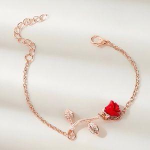3/$30 🌹 Rose Flower Pendant Braceu